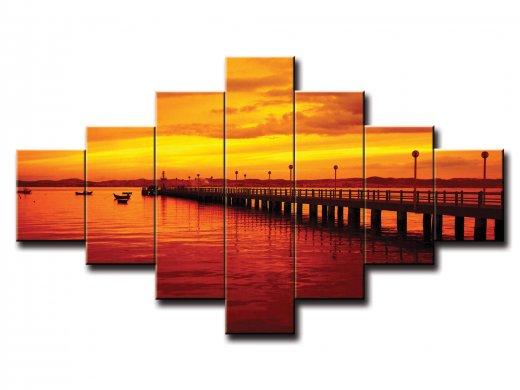 7 dielny obraz na stenu pobrežie