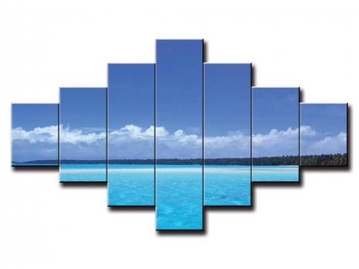 7 dielny obraz na stenu pláž s výhľadom