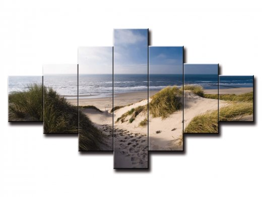 7 dielny obraz na stenu piesočná pláž