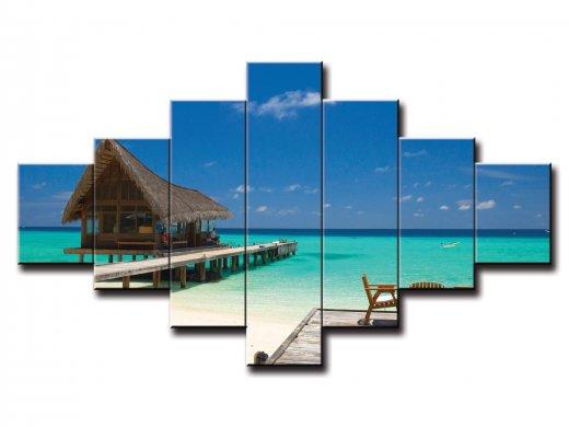 7 dielny obraz na stenu dom na mori