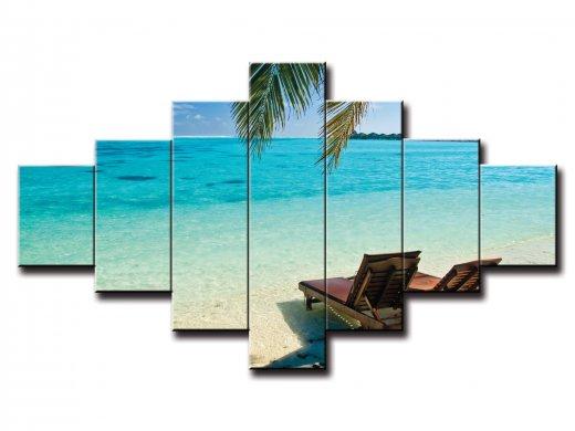 7 dielny obraz na stenu pláž