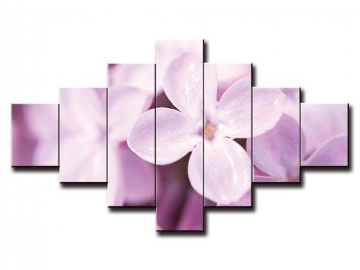 7 dielny obraz na stenu jemné lupene kvetu