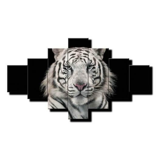 7 dielny obraz na stenu Biely tiger