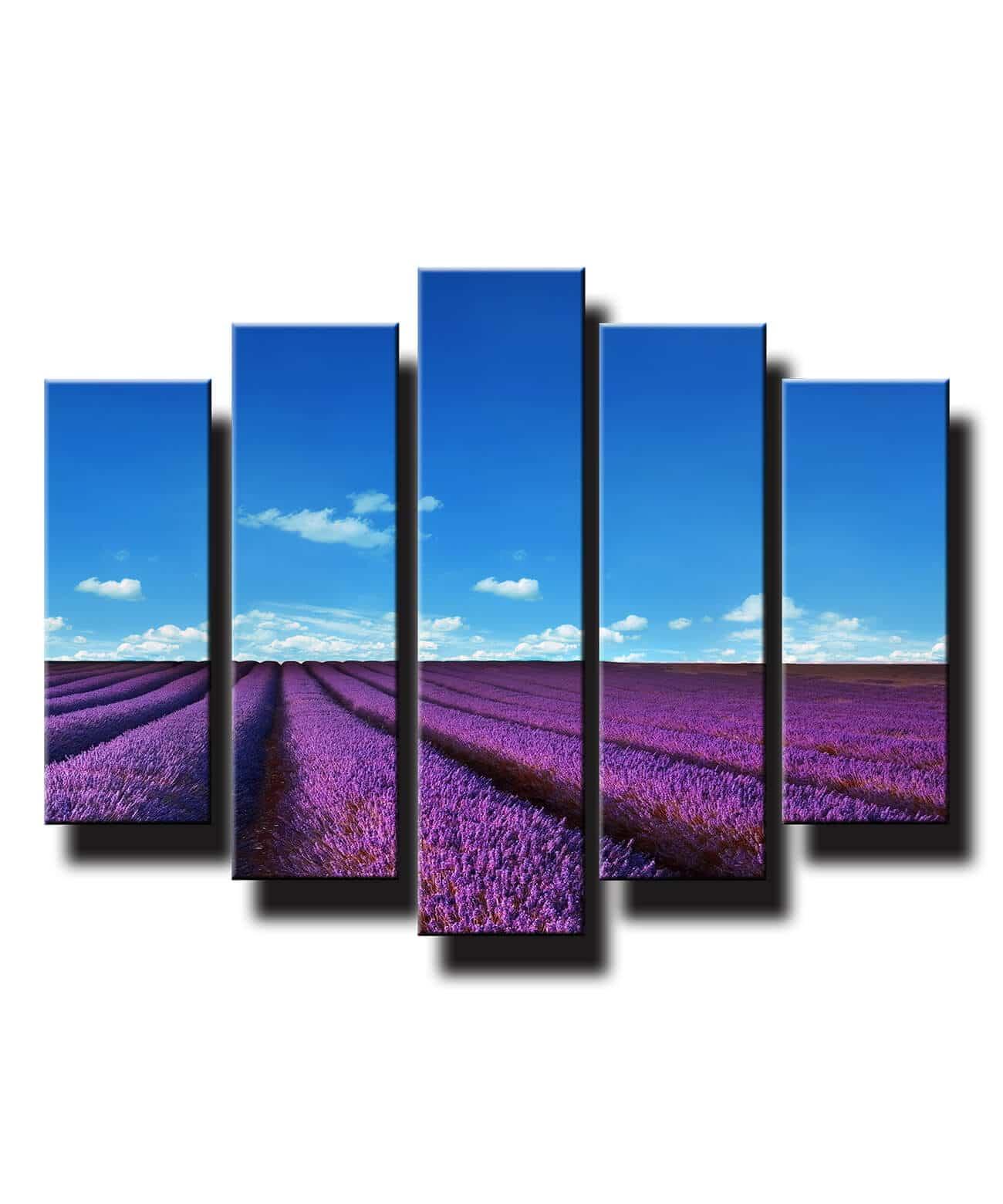 5 dielny obraz na stenu Levandulové pole
