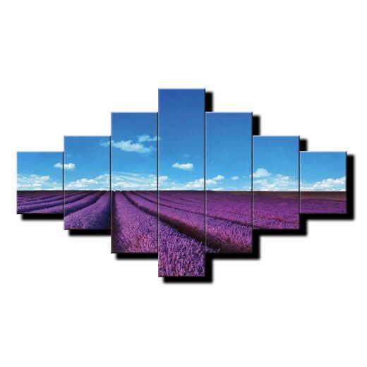 7 dielny obraz na stenu Levandulové pole