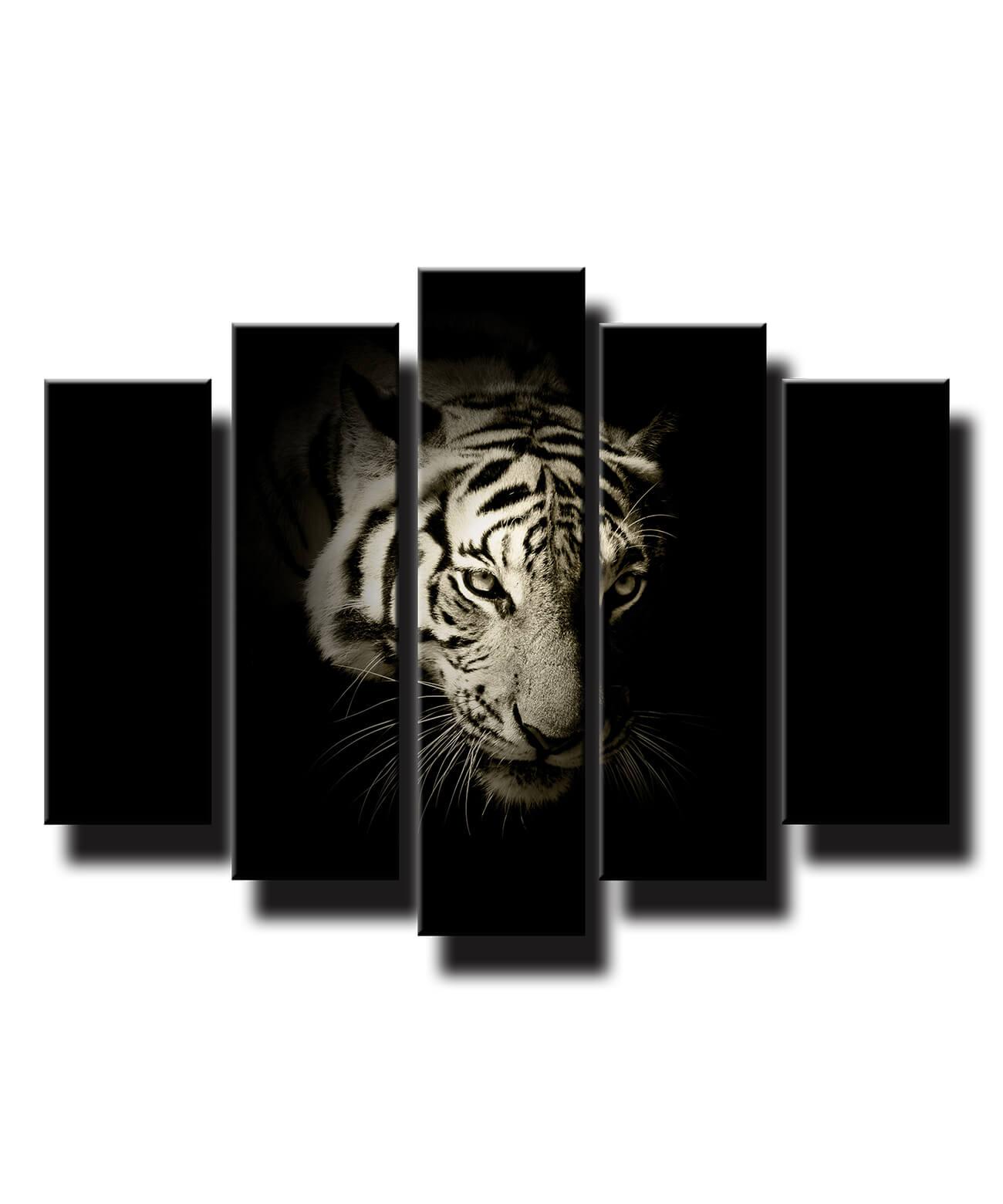 5 dielny obraz na stenu Portrét tigra